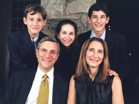 Dr. Rosenfeld and his family (Ashkan Sahihi photo)